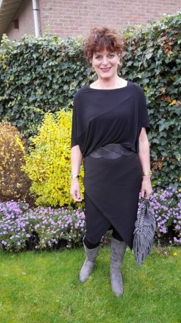 zwarte jurk ,zwarte top