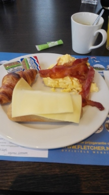 I love a breakfast in a hotel.