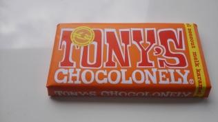 a bar of tony's chocolone