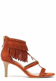 cognac sandals with heels
